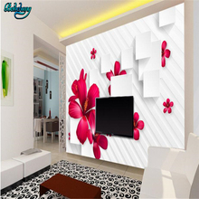beibehang Simple fashion flower box 3D TV background wall cu