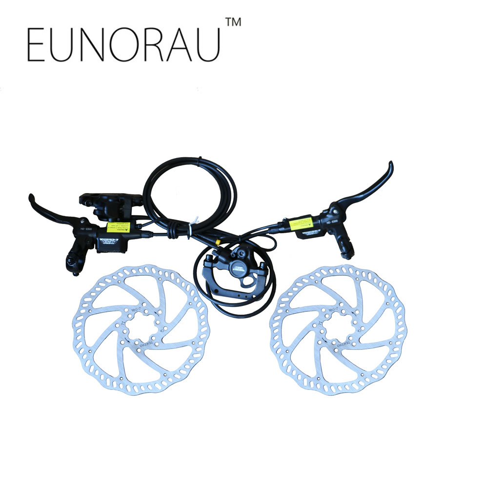 2PCS quality stainless steel cycling 180MM dis with TEKTRO DORADO HD-E500 Hydraulic Disc Brake set Brake Rotors kit kitqua37798saf7751gr value kit quality park clasp envelope qua37798 and safco e z sort steel mail sorter module saf7751gr