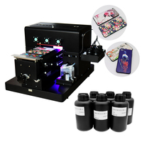Colorsun A4 UV Printer UV Flatbed Printer for Phone Case, metal,pvc card,leather,phone case printer with UV ink