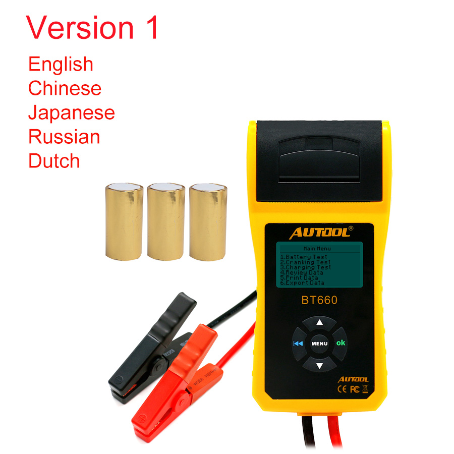 Image 2 - AUTOOL Car Battery Tester Analyzer With Printer 12V Digital Repair Workshop Auto Battery CCA Portable Diagnosis Tool Free Paper-in Battery Measurement Units from Automobiles & Motorcycles on