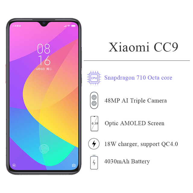 Global ROM Xiaomi Mi CC9 CC 9 6GB RAM Xiaomi Mobile Phones