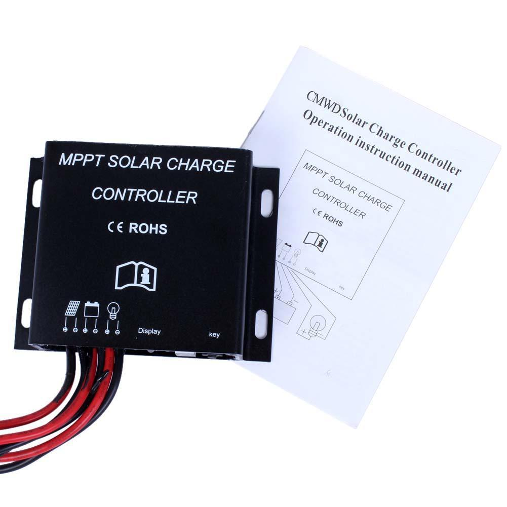 30A LED MPPT Solar Laderegler 12V 24V Wasserdicht Timer IP68 360W/720W Solar Controller werkzeuge