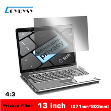 13 inch Anti-glare Privacy Filter Laptop Screen Protector film PET material for 4:3 Standard Screen Notebook 271*203mm(China (Mainland))