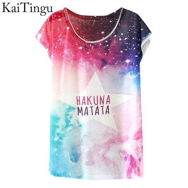 KaiTingu 2017 New Fashion Vintage Spring Summer T Shirt Women Clothing Tops Animal Owl Print T-shirt Printed White Woman Clothes