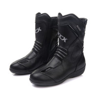 ARCX Women Motorcycle Boots Waterproof Genuine Cow Leather Moto Racing Boots Motorcross Boots Black Motorbike Boots