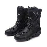 ARCX Women Motorcycle Boots Waterproof Genuine Cow Leather Moto Racing Boots Motorcross Boots Black Motorbike Boots