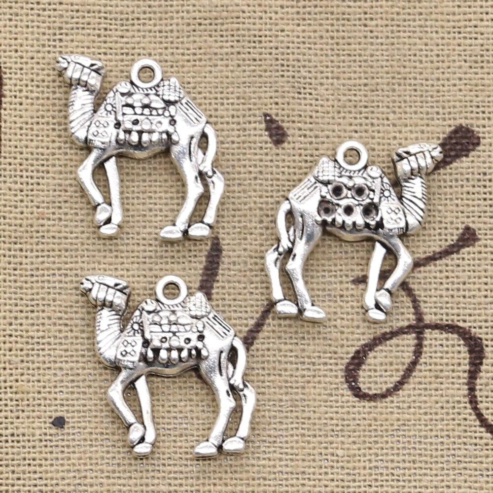 10 pçs encantos deserto camelo 21x22mm antigo prata cor pingentes diy colar artesanato fazendo descobertas artesanal tibetano jóias