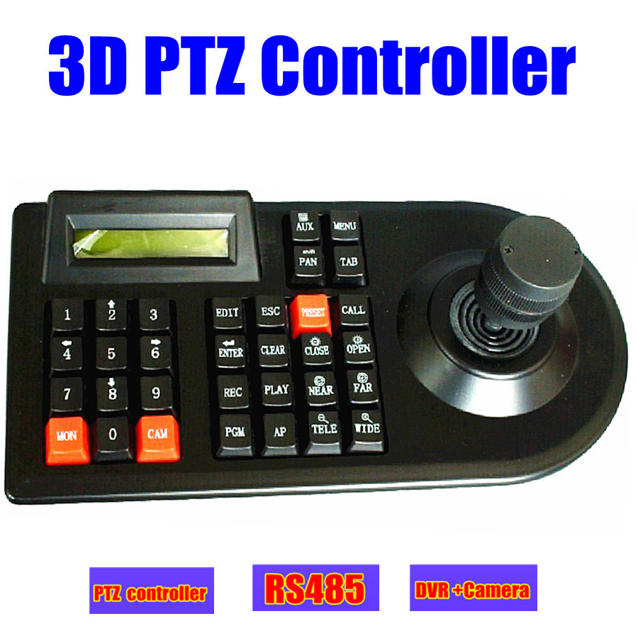 CCTV Analog ptz Camera DVR PTZ 3D Keyboard controller joystick RS485 for CCTV PTZ speed Dome Camera Controller