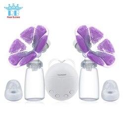 Настоящее Bubee один/двойной Электрический молокоотсос с молочной бутылкой младенческой USB BPA free мощная грудь насосы для кормления грудью