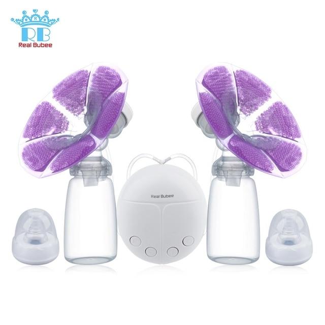 Real Bubee Single/Double Listrik Payudara Pompa dengan Botol Susu Bayi USB Bpa Gratis Kuat Payudara Pompa ASI Bayi makan