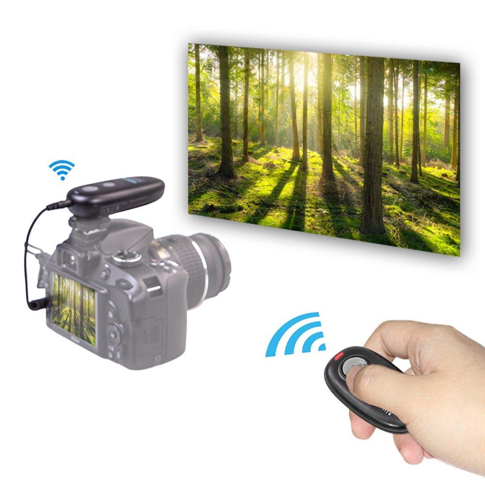 Déclencheur à distance AODELAN pour Canon EOS R, 80D, 77D, 70D, 60D, 800D, 760D, 200D, 1500D, 7D Series, 5D Series, T7 T7i - 4
