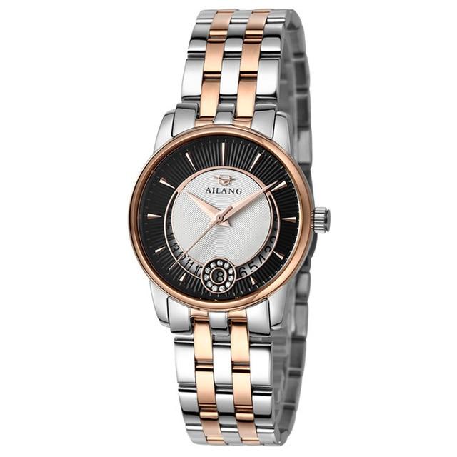 d96198d29f6 Relógios AILANG Elegante Senhoras Vestido de Negócios Relógios de Quartzo  relógio de Pulso de Aço Completo