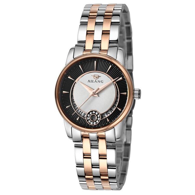 Relogios AILANG Elegant Ladies Business Klockor Quartz Full Steel Armbandsur Kalender Klänning Timer 3ATM Relojes Montre femme W010