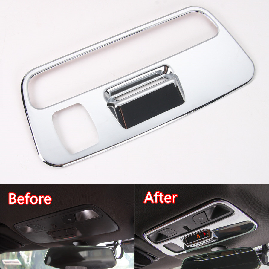 Fit For Chevrolet Camaro 2017+ Auto Car Roof Reading Light Lamp Decoration Frame Trim Sticker Car-styling Covers 3 Colors auto chrome camaro letters for 1968 1969 camaro emblem badge sticker