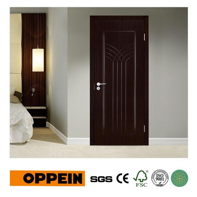 oppein vente chaude moderne fonc grain de bois mdf porte. Black Bedroom Furniture Sets. Home Design Ideas