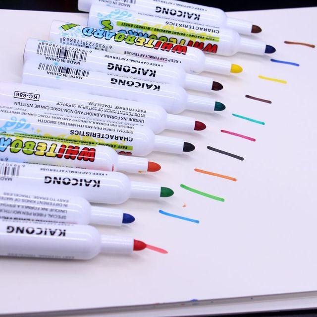 12 Colorspack Refillable Whiteboard Marker School Dry Erase Markers
