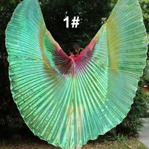 Image 2 - Nouveautés pas cher haute qualité égyptien femmes danse du ventre Costume Isis ailes livraison rapide en vente 3 ailes de couleur