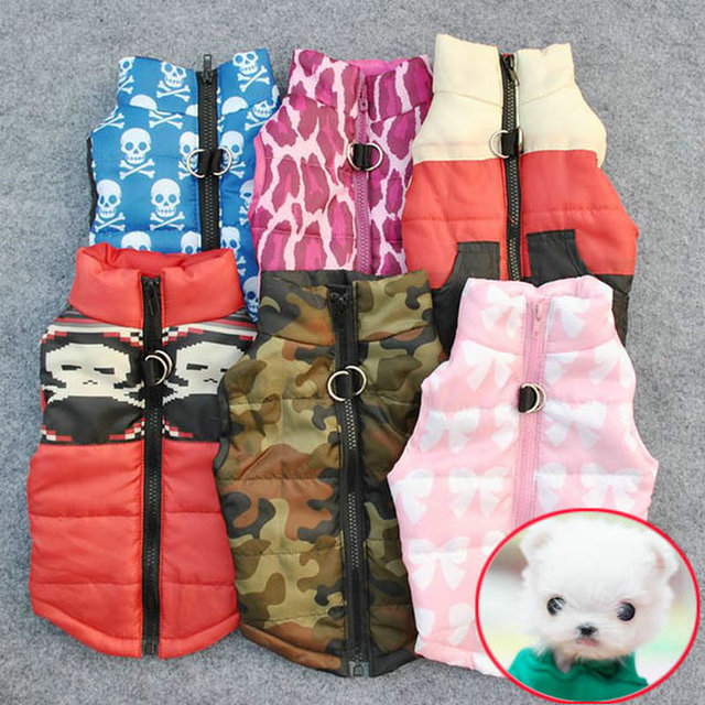 Winter Warm Pet Dog Clothes Vest Harness Puppy Coat Jacket Apparel 6 Color Large