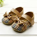 TongYouYuan 2017 Spring Baby Girls Dress Shoes Cotton kids shoes toddler shoes Girls First walkers Bowknot Baby Girl Plaid Shoes