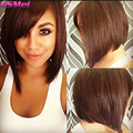 brown bob wigs with bangs african american synthetic wigs for women kylie jenner hairstyle pixie cut wig pelucas pelo natural