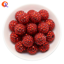 R39 Cordial Design 20MM 100Pcs/Lot Red Chunky Resin Rhinestone Beads Chunky Beads For Necklace Making CDWB 516028