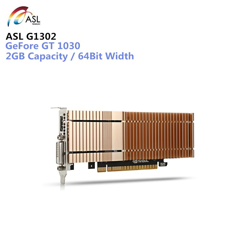 ASL G1302 Graphics Card Used 4090 x 2160 2GB 64bit GDDR5 HDMI / DVI 384 CUDR Core Fan External Graphics Card for Laptops new original for mgoy hd7450 1g 64bit ddr3 625 1066mhz for amd graphics card dvi hdmi vga