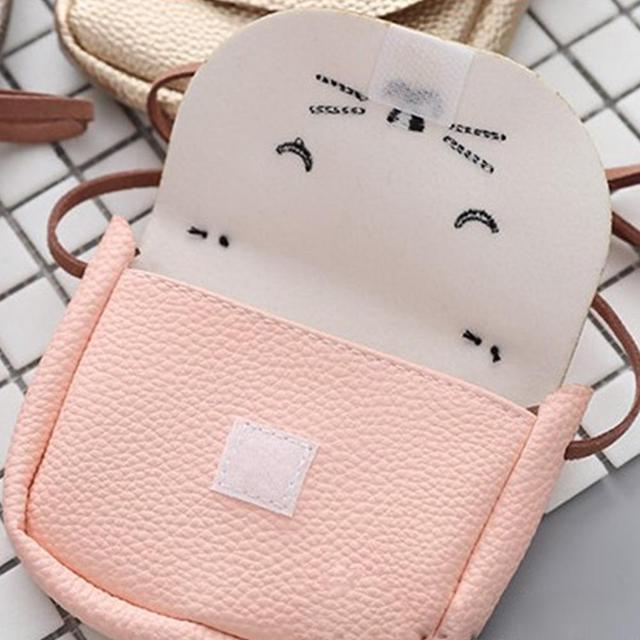 Mini Shoulder Bag Cute Cat Ear Messenger Bag Women Kids All-Match Key Coin Purse Cartoon Lovely Handbags Simple girl Clutch ZK25