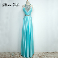 Satin Sexy Evening Dresses 2016 Formal Party Prom Gown Elegant Long Evening Dress