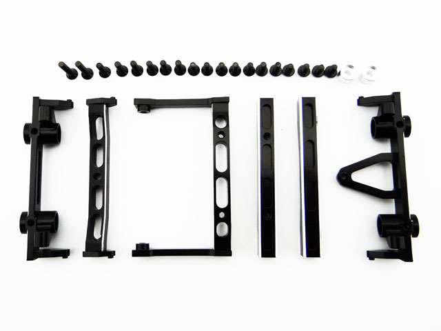 Hot racing Chassis rail brace bumper mount set for Axial SCX10 NEW цена