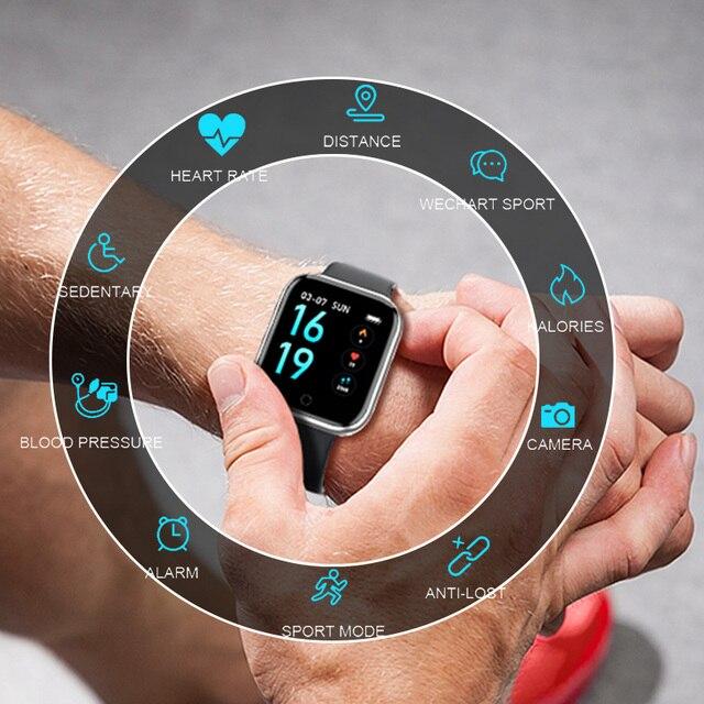 Smart watch Women Men Sports Fashion IP68 Waterproof Activity Fitness Tracker Heart Rate BRIM Smartwatch VS P68 P70 Bracelet 2