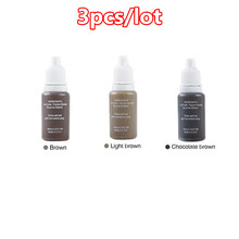 Permanent Eyebrow Lip Eyelash Makeup Pigment 1/2OZ 15ML Tattoo Ink Set Micro Pigment Cosmetic Color Tattoo Supplies 3 Pcs/Lot