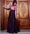 Hijab manga larga vestido de noche árabe vestidos vestidos de 2016 nueva baratos elegantes Sexy Pink Sequin musulmán Prom vestidos partido vestido