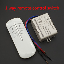 220V 1 Cara Nirkabel On/Off Lampu Remote Control Switch Receiver Transmitter(China)