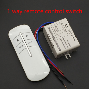 220V 1 Ways Wireless ON/OFF Lamp Remote Control Switch Receiver Transmitter image