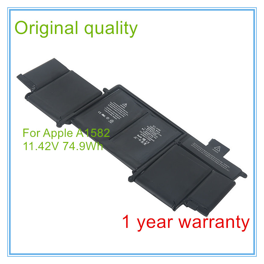 Original New Quality A1582 Battery For Retina 13'' A1502 A1582 ME864 ME865 Battery 2015 Year