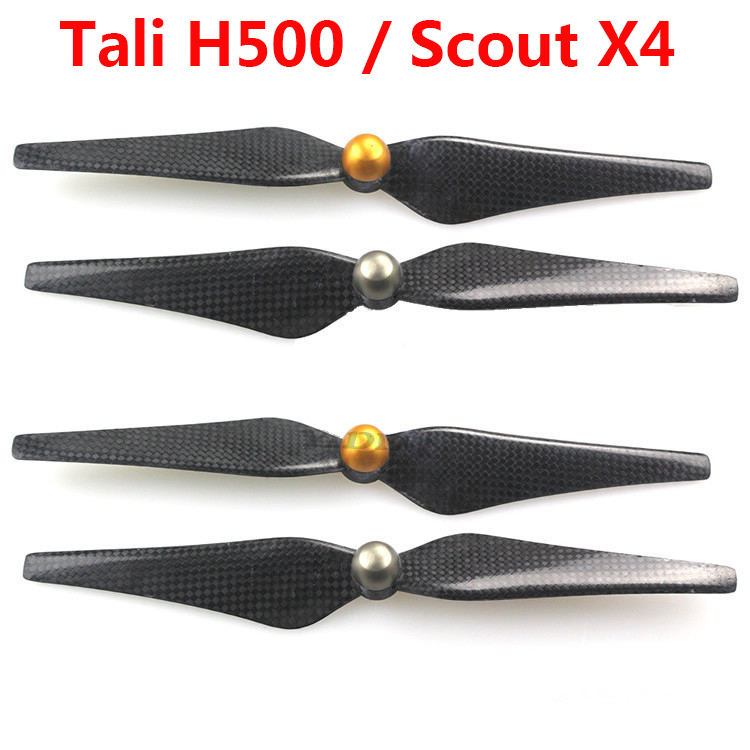 Carbon Fiber 9443 Self-locking Propellers CW / CCW 2 Pairs/ Set  for Walkera Tali H500 / Scout X4 Parts Free Shipping sprint booster drive electronic throttle controller for mazda mx 5 rx 8 mzd 6for besturn b70