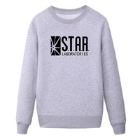 Famous Brand STAR S T A R Labs Black Sweatshirt Jumper The Flash Gotham City Comic