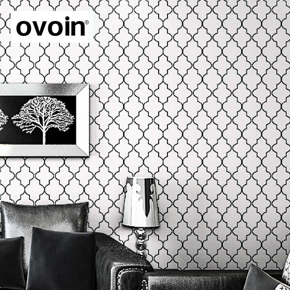 Moroccan Trellis Black White Modern Geometric Pattern ...