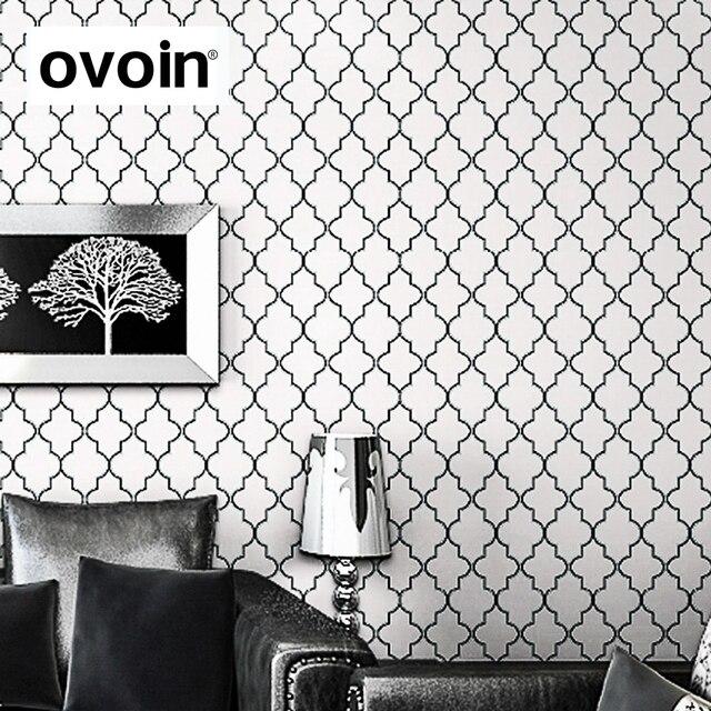 marokkanischen spalier schwarz weiß moderne geometrische muster ... - Moderne Marokkanische Wohnzimmer