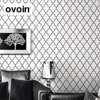 Grey Black On White Modern Geometric Wallpaper Roll Plain Solid Color Textured Wall Paper Dining Room