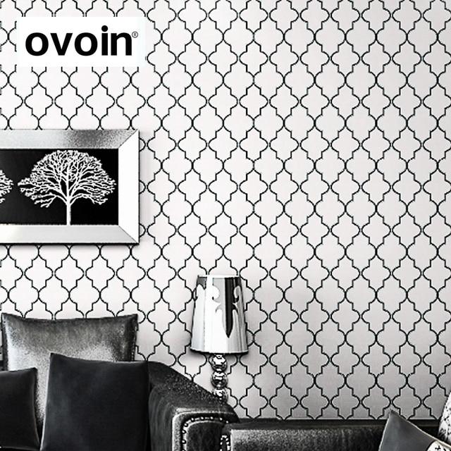 Treillis Marocain Noir Blanc Moderne Motif Géométrique Papier Peint Rouleau  De Papier Peint Feuille De Papier