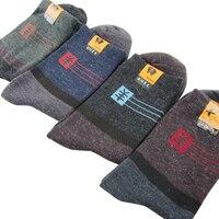 Man Winter Socks Sweat Absorb Deodorant Men Wool Socks Warm Thicker Male Tube Socks 3pairs Lot