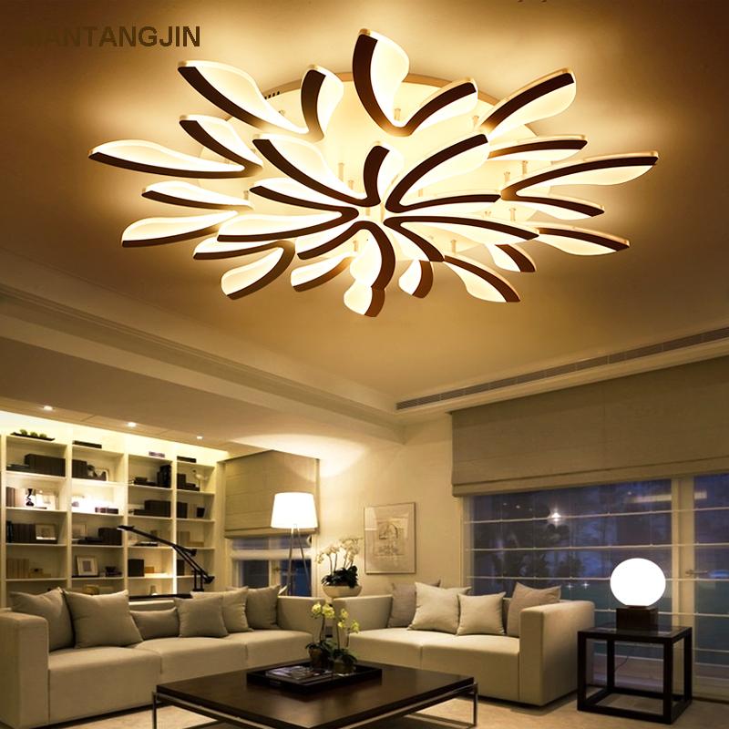 US $28.9 30% OFF|Fernbedienung Moderne led decke lichter für schlafzimmer  smart decke lampen acryl aluminium körper LED Lampe decke wohnzimmer-in ...