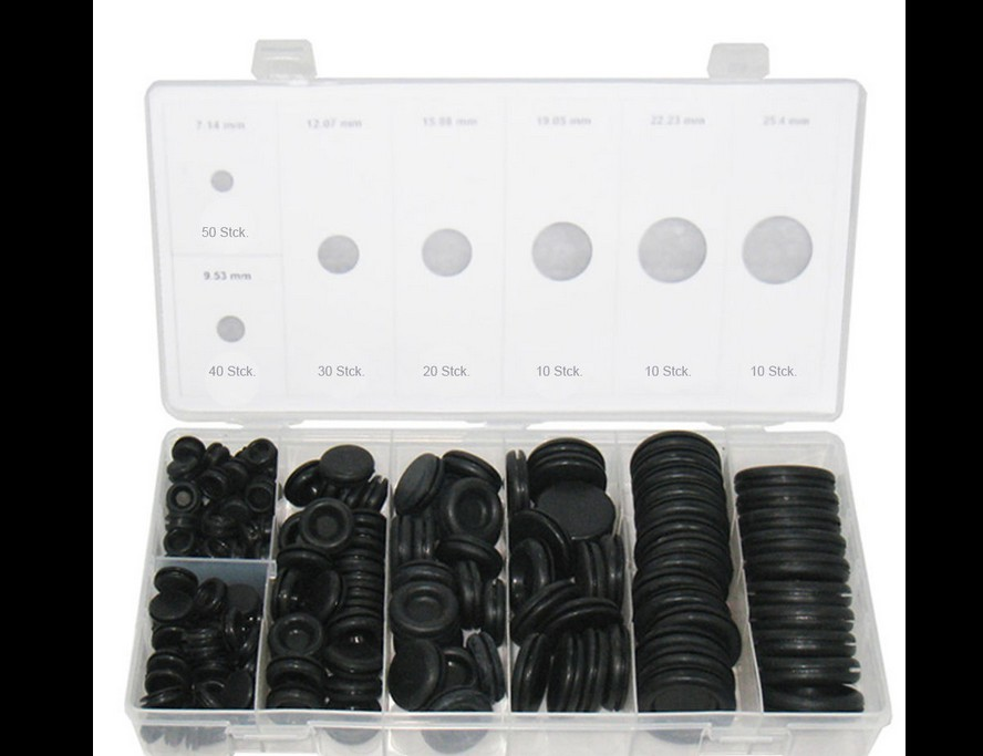 170pcs-black-rubber-grommet-firewall-hole-plug-retaining-ring-set-car-electrical-wire-gasket-kit-for-cylinder-valve-water-pipe
