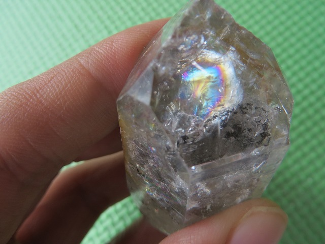 Aplifies other srones and alllow you to access higher Consciousness Clear HERKIMER Diamond Crystal with Sun in 925 Silver 1.25 long