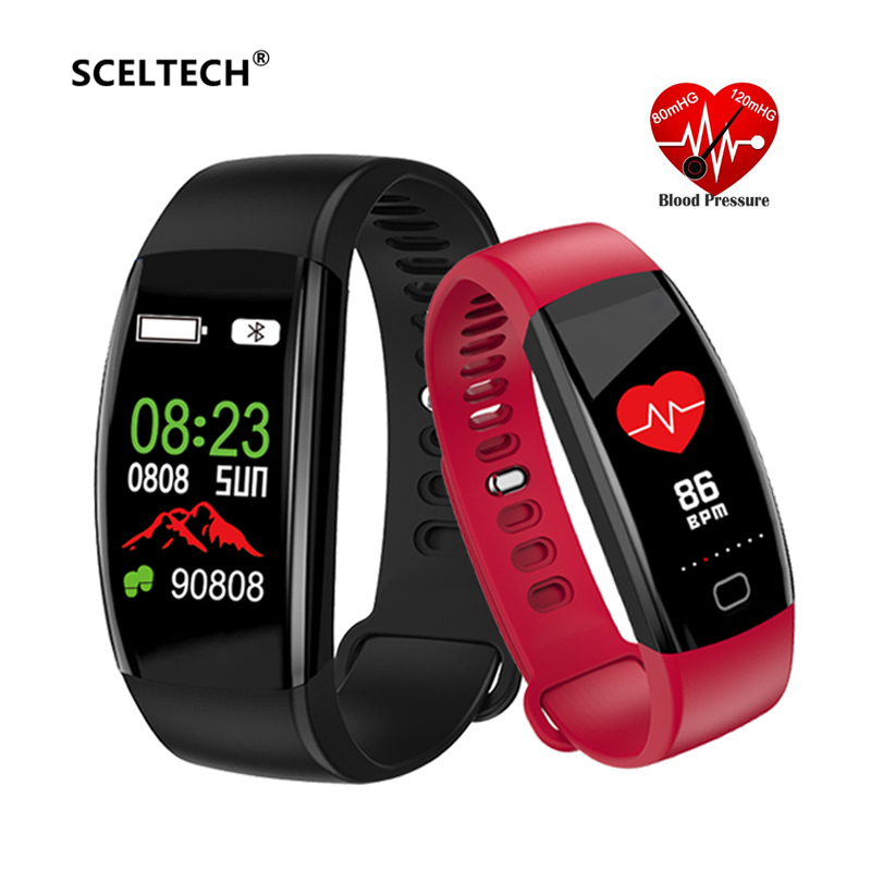 e2dff16cac1a SCELTECH F64HR fitness Bracelet IP68 Waterproof Smart Band Activity Tracker  Blood Pressure GPS Watch Oxygen Monitor PK M3 ID107