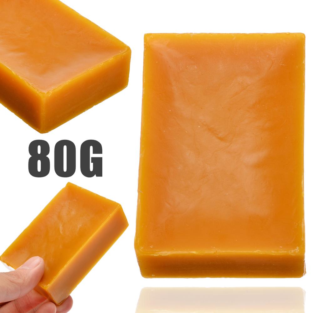 80g 100% Organic Natural Pure Beeswax Honey Wax Bee Cosmetic Maintenance Protect Wood Furniture