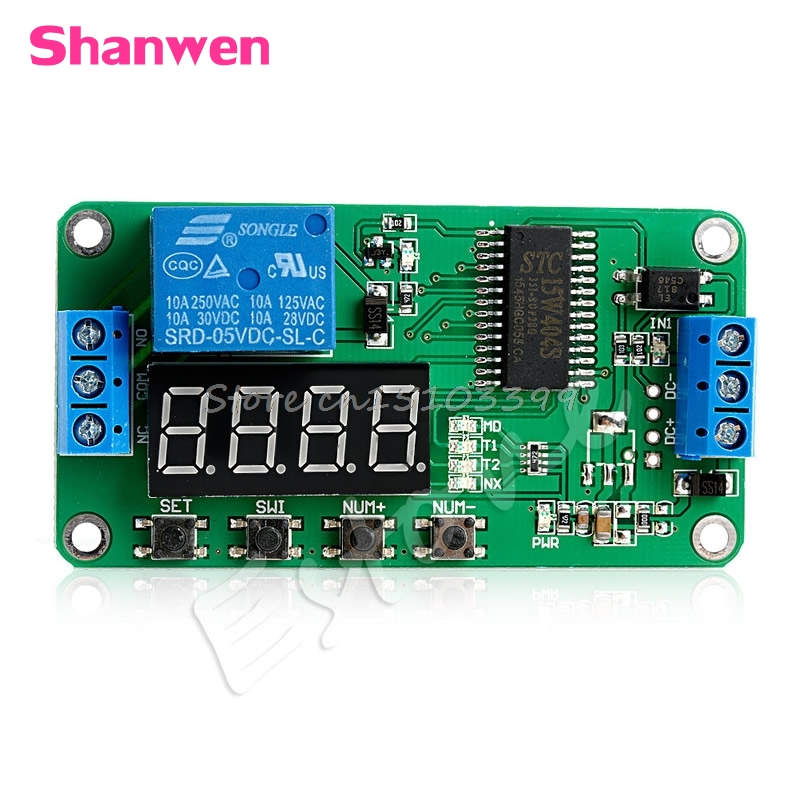 DC 5V Multifunction Self-lock Relay PLC Cycle Timer Module Delay Time Switch Drop shipping #G205M# Best Quality 1pc multifunction self lock relay dc 12v plc cycle timer module delay time relay