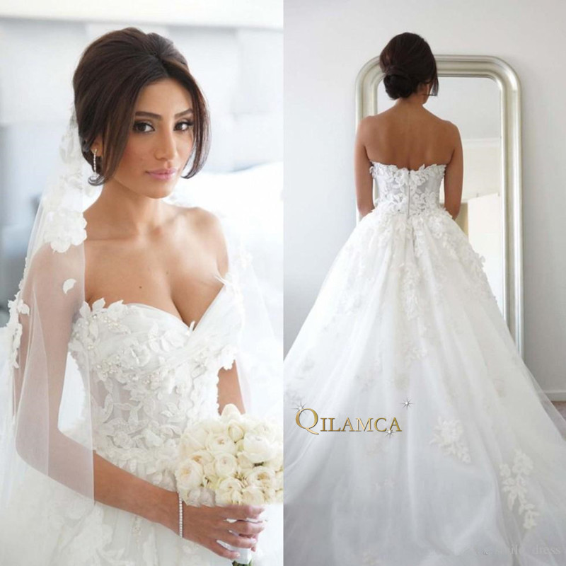 Beautiful Princess Wedding Gowns: Aliexpress.com : Buy Country Modest Wedding Dresses 3D