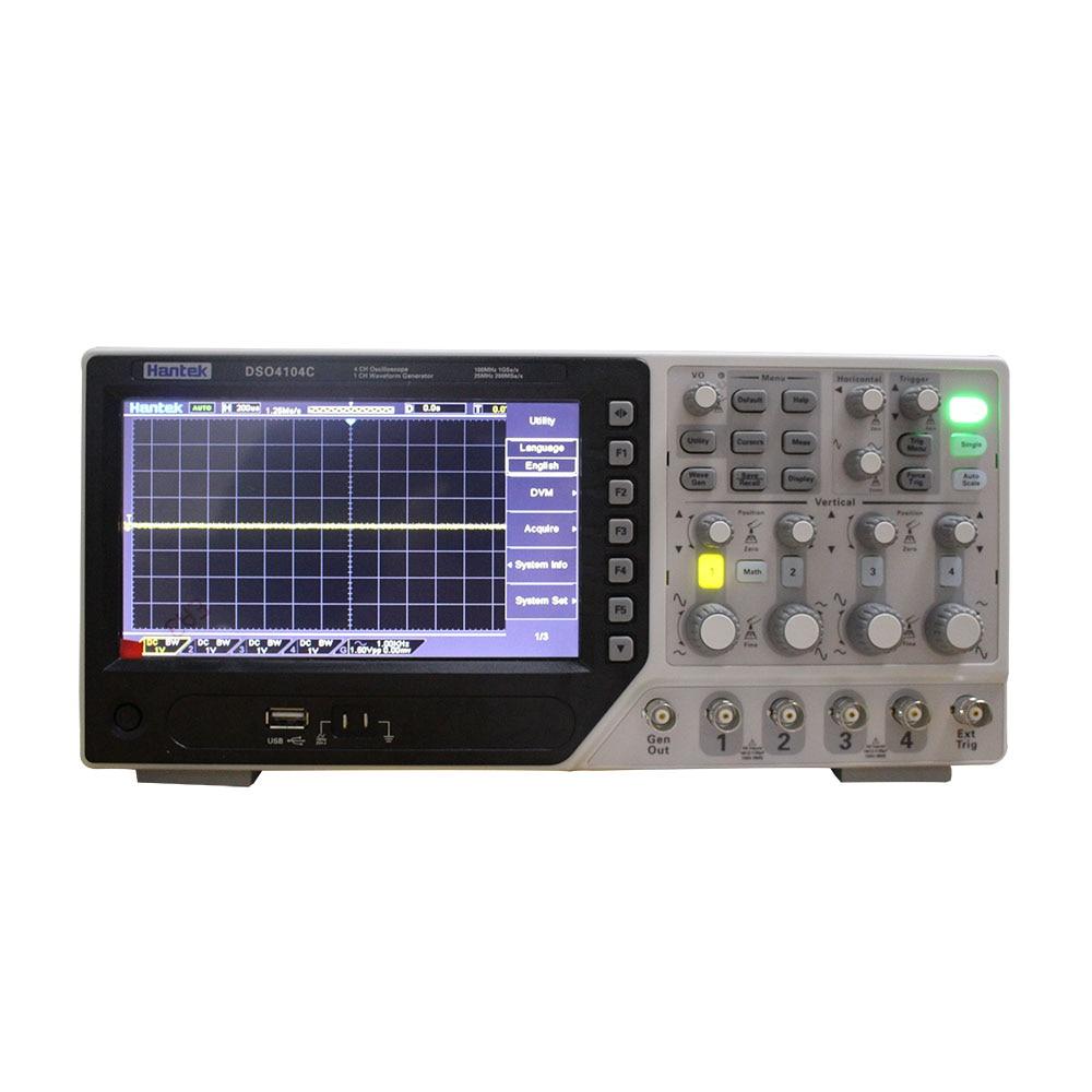 Hantek DSO4104C Digital Storage Oscilloscope 4 Channels 100Mhz PC Osciloscopio Portatil 7Inch Lcd Display USB Oscilloscopesusb oscilloscopestorage oscilloscopedigital storage oscilloscope -